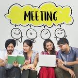 Kommunikations-Brainstormings-Ideen-Konzept Stockfotos
