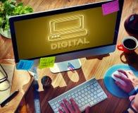 Kommunikations-Digitalrechner-Medien-Grafik-Konzept lizenzfreie stockfotos