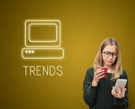 Kommunikations-Digitalrechner-Medien-Grafik-Konzept lizenzfreies stockfoto