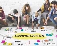 Kommunikations-Diskussion Team Work Ideas Concept lizenzfreie stockfotos