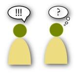 Kommunikations-Fehler Lizenzfreie Stockfotos