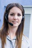 Kommunikations-Frau Lizenzfreies Stockbild