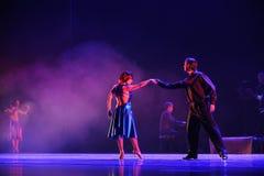 Kommunikations-identitet av dentango dansdramat Arkivbild