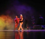 Kommunikations-identitet av dentango dansdramat Royaltyfri Fotografi