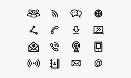 Kommunikations-Ikone Stockbilder