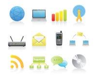 Kommunikations-Ikonen Stockbilder