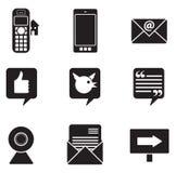Kommunikations-Ikonen Lizenzfreie Stockfotos