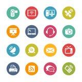 Kommunikations-Ikonen -- Neue Farb-Reihe Stockfotos