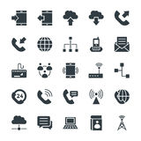 Kommunikations-kühle Vektor-Ikonen 1 Lizenzfreie Stockfotografie