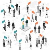 Kommunikations- och samkvämnätverk stock illustrationer