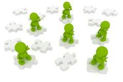 Kommunikations-Puzzlespiel Lizenzfreies Stockfoto