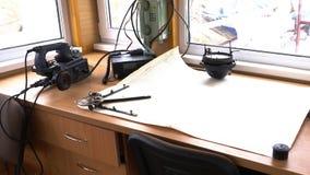 Kommunikations-Raum-Kreuzschiff-Navigations-Steuerung stock video footage