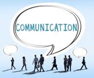 Kommunikations-Sprache-Blasen-Gesprächs-denkendes Konzept Stockfotos