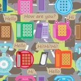 Kommunikations-Straßen-nahtloses Muster Lizenzfreie Stockbilder