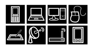 Kommunikations-/Technologie-Ikonen Stockbild
