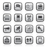 Kommunikations- und Anschlussikonen Lizenzfreie Stockbilder