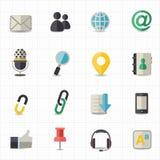 Kommunikations- und Internet-Ikonen Lizenzfreie Stockfotos