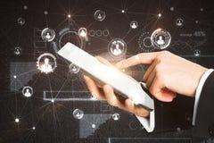 Kommunikations- und Netzkonzept Lizenzfreies Stockbild