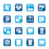 Kommunikations- und Technologieausrüstungsikonen Stockfotos