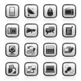 Kommunikations- und Technologieikonen Stockbild