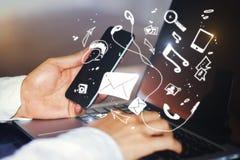 Kommunikations- und Technologiekonzept Lizenzfreie Stockfotografie