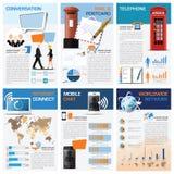 Kommunikations-und Verbindungs-Nomogramm Infographic Lizenzfreie Stockfotografie