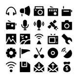 Kommunikations-Vektor-Ikonen 4 Stockfoto