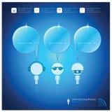 Kommunikations-Verbindungs-Sprache-Blasen-Geschäft Infographic-Design-Schablone Lizenzfreie Stockbilder