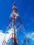 Kommunikationsantennen, Radiotelefon Stockbild