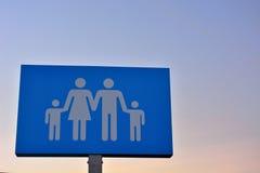 Kommunikationsbegrepp, symbol för familj Arkivbild