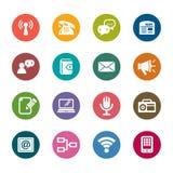 Kommunikationsfärgsymboler royaltyfri illustrationer