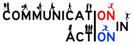 Kommunikationshandling vektor illustrationer
