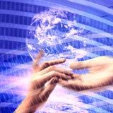 Kommunikationshintergrund Stockbild