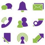 Kommunikationsikonen Lizenzfreies Stockfoto