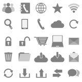 Kommunikationsikonen auf weißem Hintergrund Stockfotos