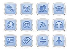 Kommunikationsikonenset Stockfoto