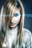 Kommunikationskonzept, junge Blondine Lizenzfreie Stockfotografie