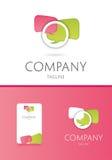 kommunikationslogo royaltyfri illustrationer
