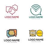 Kommunikationslogo och symbolsdesign royaltyfri illustrationer