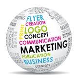 kommunikationsmarknadsföringsvärld Arkivfoton