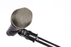 kommunikationsmikrofonbruk Arkivfoton
