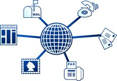 Kommunikationsmolekül Lizenzfreies Stockbild