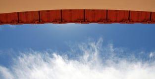 Kommunikationsrechner zum Himmel Lizenzfreies Stockbild