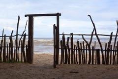 Kommunikationsrechner zum Strand Lizenzfreies Stockbild