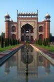 Kommunikationsrechner zum Taj Mahal Lizenzfreies Stockfoto