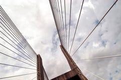 Kommunikationsrechnerbrücke Stockbilder
