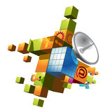 Kommunikationssymbol Stockfoto