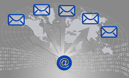 kommunikationssymboler Arkivfoto
