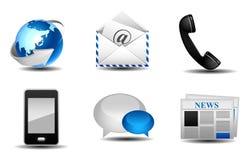 kommunikationssymboler Fotografering för Bildbyråer
