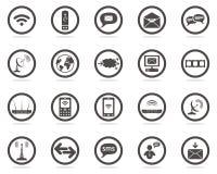 kommunikationssymboler ställde in rengöringsduk Royaltyfri Fotografi